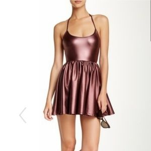American Apparel Shiny Skater Dress